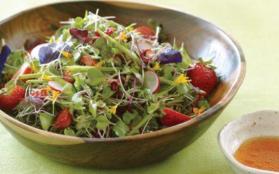 Microgreens with Strawberry-Lime Vinaigrette